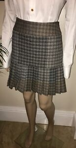 Vivienne-Westwood-Red-Label-Black-White-Brown-Grey-Tartan-Check-Skirt-42-UK10