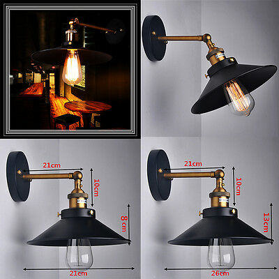 Vintage Retro Ceiling Wall Sconce Light Industrial Edison Trumpet Shaped Fixture