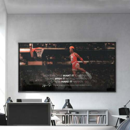 Michael Last Dance Basketball Legends Motivational Quote Poster,Gym Inspiration