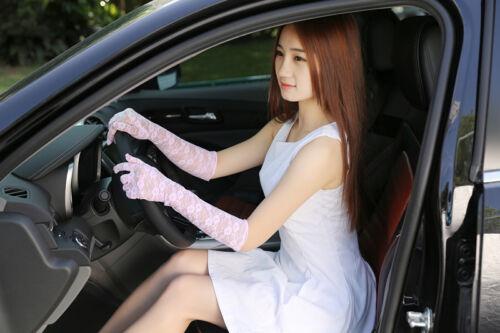 Women/'s Summer UV-proof Driving Gloves Wedding Bridal Gloves Short Lace Gloves