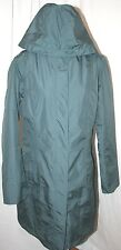 EDDIE BAUER WEATHEREDGE GIRL ON THE GO INSULATED TRENCH COAT JACKET ocean TL L