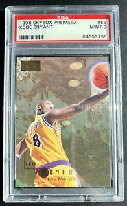 Kobe-Bryant-Rookie-Card-RC-55-1996-96-Skybox-Premium-Graded-PSA-9-Mint