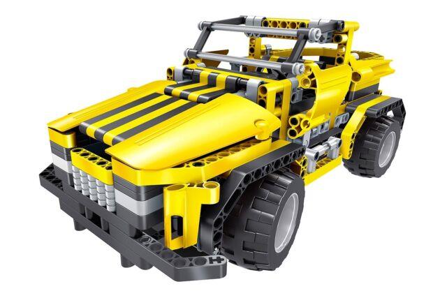 Teknotoys active bricks RC 2in1 Pickup Truck & roadster amarillo con control remoto
