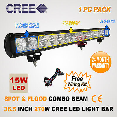 36 INCH 270W CREE LED SPOT FLOOD OFFROAD 4WD DRIVING WORK LIGHT BAR WD-210W/230W