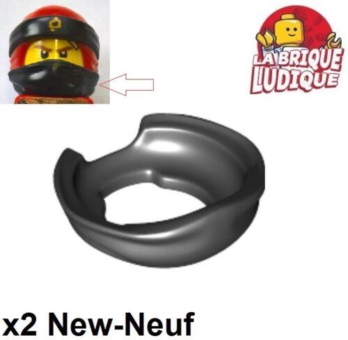 2x Minifig foulard Bandana Ninja Face Scarf noir//black 24504 NEUF Lego