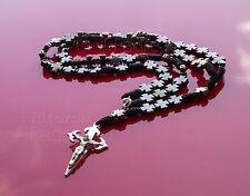 Rosario collana in metallo e spago croce di San Giacomo