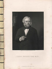 C1830 georgiano Portrait stampa ~ John Bright ESQ M. P