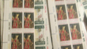 US Discounted Postage 870x 6c Christmas stamp in Plate Strips MNH Face $52.00