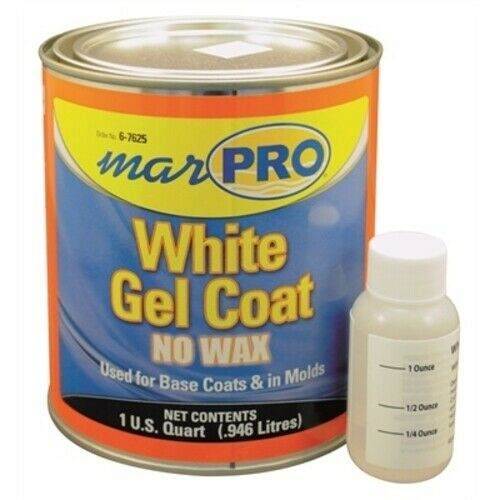 Boat Marine Exterior  White Gel Coat No Wax 1 Quart Light Stabilized 6-7625