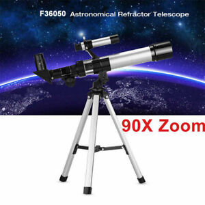 TELESCOPIO MONOCULARE ASTRONOMICO RIFRANGENTE TREPPIEDE CAVALLETTO HD 90X B9J5