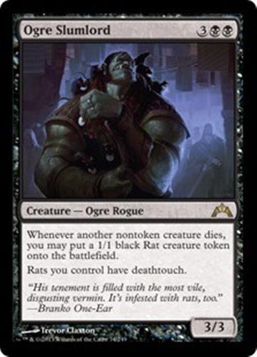 OGRE SLUMLORD Gatecrash MTG Black Creature—Ogre Rogue RARE Rat