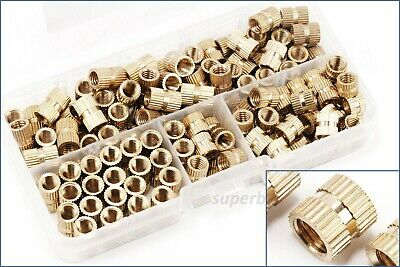 16mm Solid Brass Knurled Nuts Threaded Embedded Round Insert 140pcs M6 6mm