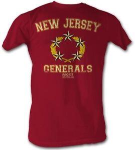 New-Jersey-Generals-USFL-Logo-Men-039-s-Tee-Shirt-Cherry-Heather-Sizes-S-2XL