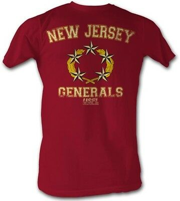 New Jersey Generals LOGO USFL  Men/'s Tee Shirt Gray Heather Sizes S-5XL