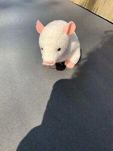 White-Baby-Mice-Plush-Spooky-Rat-Pet-Mouse-Pink-Toy-Black-Eyes