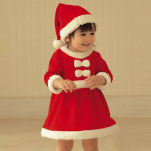 81cc53421 Image is loading Toddler-Kid-Baby-Girl-Christmas-Clothes-Costume-Bowknot-
