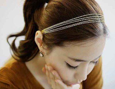 New Fashion Hair Accessory Multilayer Golden Chain Tassels Headband Hair Band