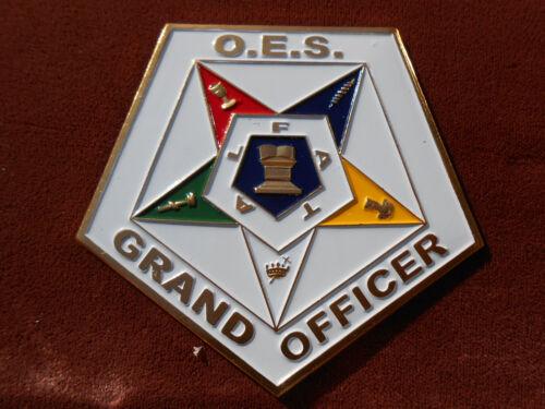 Masonic PSC023 Or.E.S Grand Officer aluminum Car Emblem