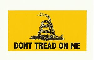 GADSDEN-Yellow-DONT-TREAD-ON-ME-Snake-Logo-VINYL-Bumper-Sticker-Window-Decal