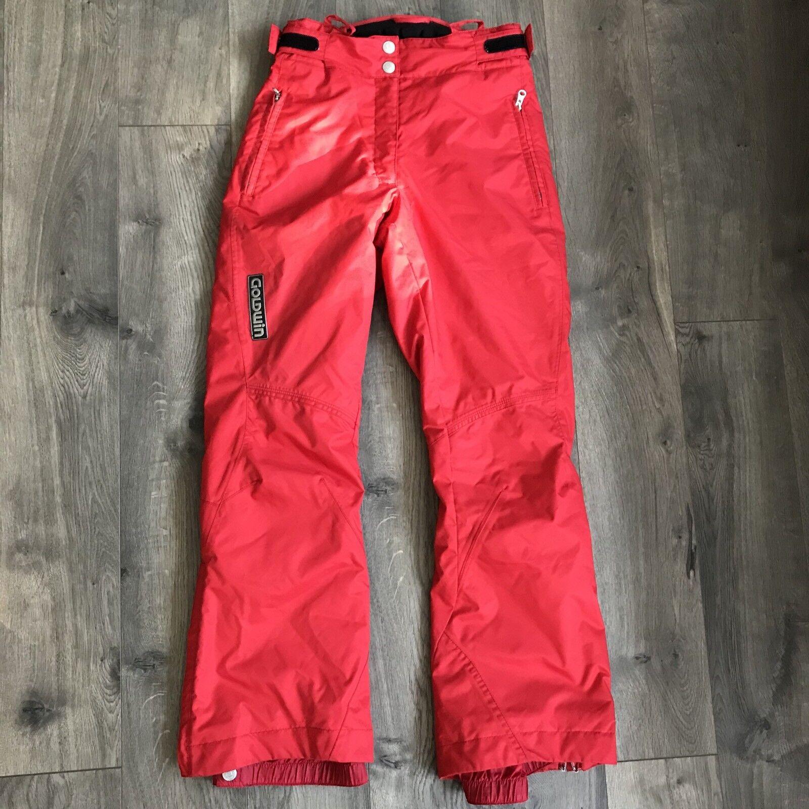 GoldWIN G-8352EL SKI Snowboard Race Racing Pants rot Woman's Größe 10