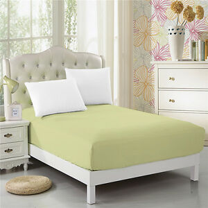CC-amp-DD-100-Microfiber-Super-Silky-Soft-Deep-Pockets-Fitted-Sheet-Light-green