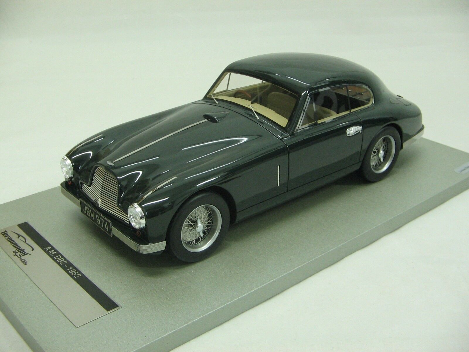 1 18 18 18 Scale Tecnomodel Aston Martin Db2 Coupe British green 1950- Tm18-22a bd4a1d