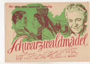 Schwarzwaldmaedel Erste Neue Deutsche Farbfilm 1950 Postcard 350b - <span itemprop=availableAtOrFrom>Aberystwyth, United Kingdom</span> - I always try to provide a first class service to you, the customer. If you are not satisfied in any way, please let me know and the item can be returned for a full refund. Most purcha - Aberystwyth, United Kingdom