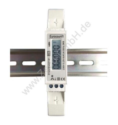10 Stück Wechselstromzähler LC-Display Stromzähler MID GEEICHT 45A  S0 1000Imp