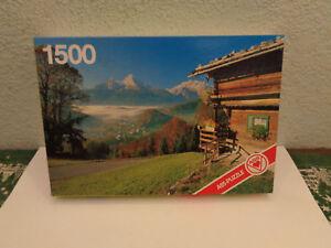VINTAGE ASS Puzzle Berchtesgaden mit Watzmann 1500 Teile Rarität 80er J. unbesp.