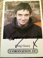 6x4 Hand Signed Photo Coronation Street Graeme Proctor - Craig Gazey