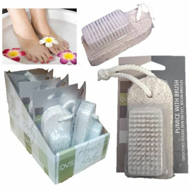 7pc Pumice Stone Brush Hard Dead Skin Remover Pedicure Exfoliate Foot Care Scrub