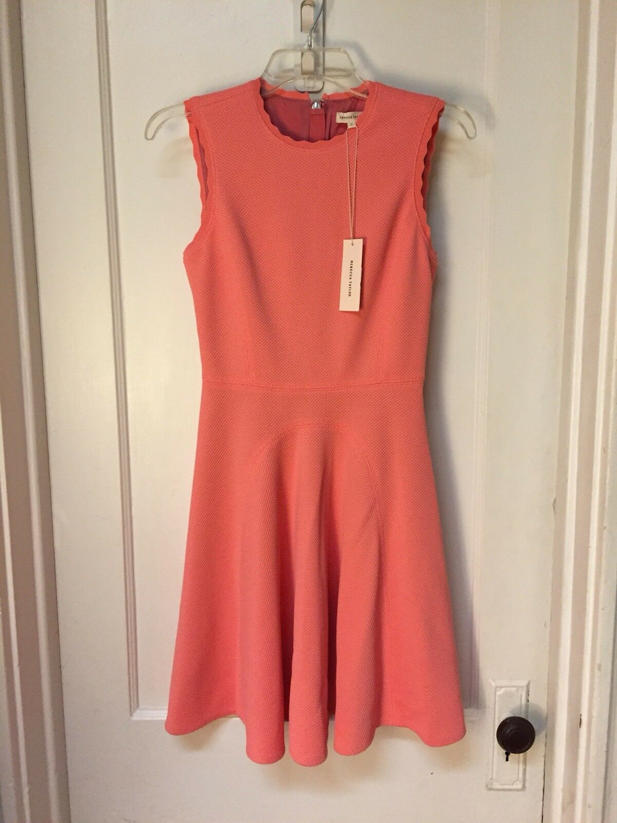 REBECCA TAYLOR SLEEVELESS FIT AND FLARE DRESS NEW Größe 0