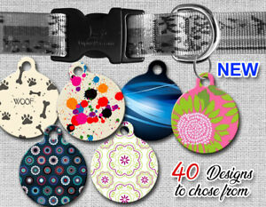Custom-Designer-Pet-ID-Tags-for-Dog-amp-Cat-Personalized-Stylish-Round-Shape-Tag