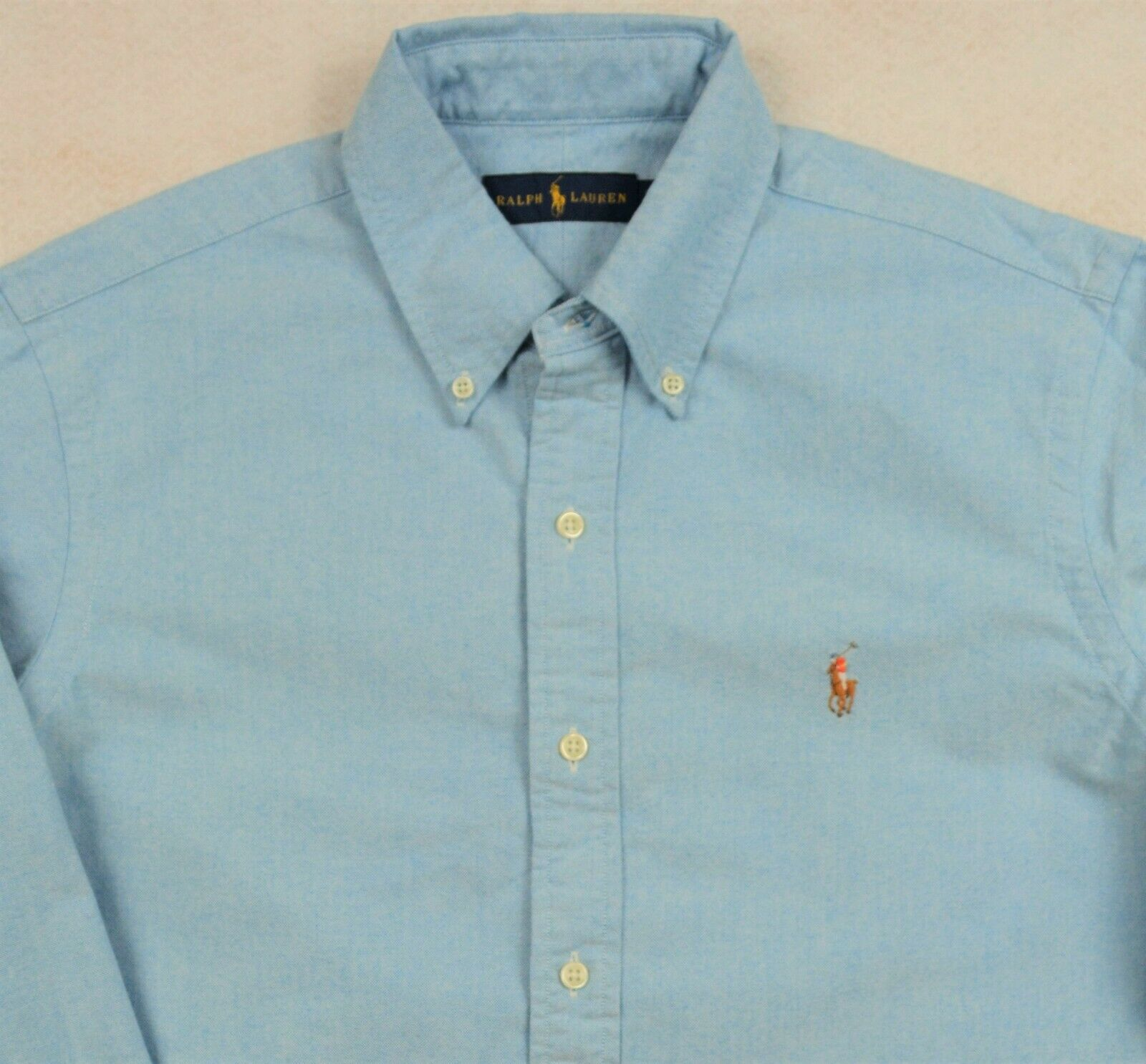 Ralph Lauren Shirt Oxford Long Sleeves Button-Front Optic bluee M & L NWT