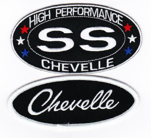 CHEVY SS CHEVELLE SEW//IRON ON PATCH EMBLEM BADGE EMBROIDERED BIG BLOCK V8
