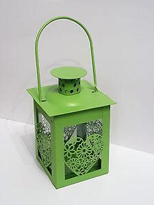 Metall Mini Laterne Windlicht grün