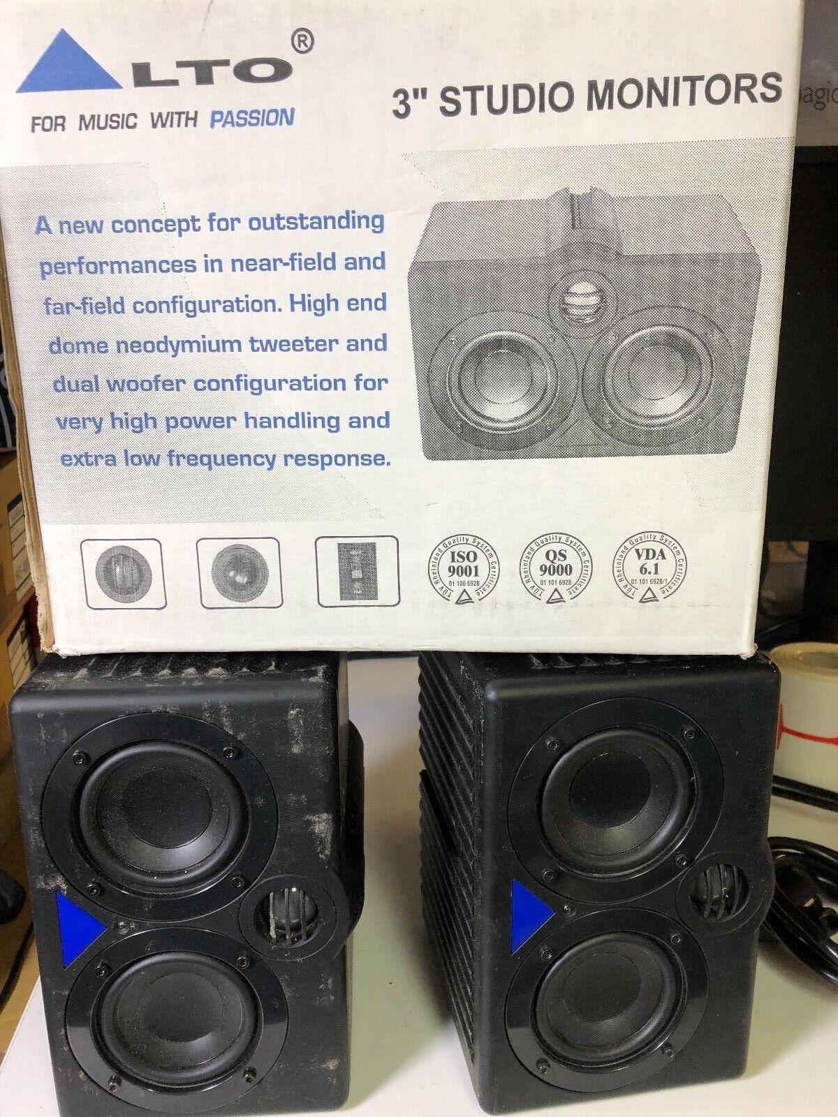 Lot de 2 x ALTO M SERIES MONITORS PASSIVE & ACTIVE MODELS M3A Monitoring