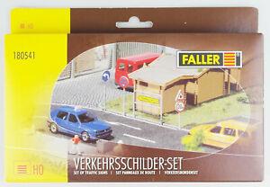 Faller-180541-h0-signalisation-routiere-Set-International-Kit-neuf-dans-sa-boite-TOP