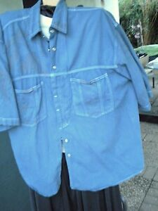 Chemise, Manches Courtes, Jeans Colorés Big Vintage-afficher Le Titre D'origine