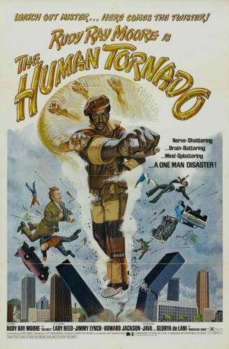 R381 HUMAN TORNADO Movie Blaxploitation Kung-Fu Comedy-Print Art Silk Poster