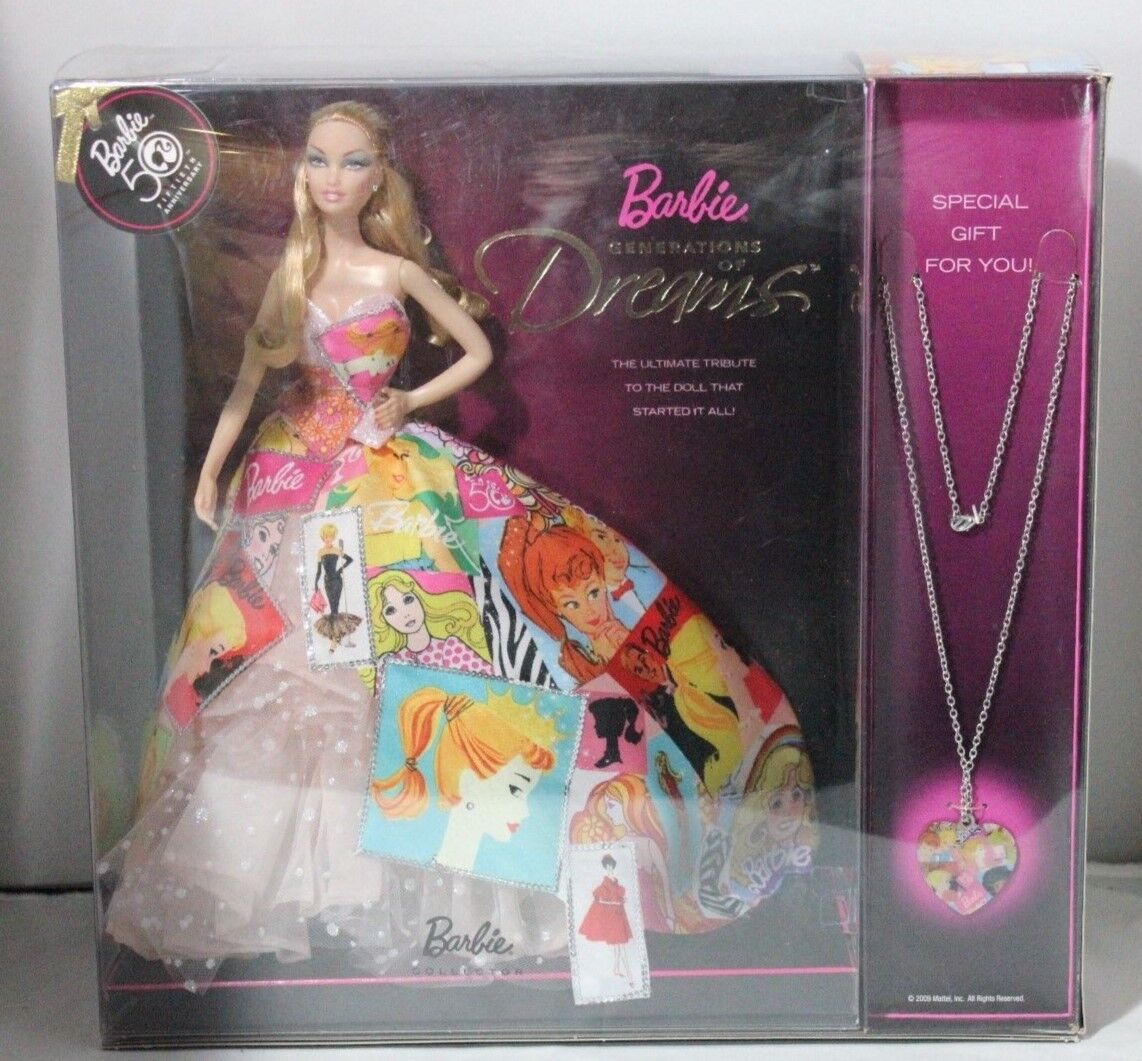 2009 50th Anniversary Generation of Dreams Barbie Doll With Necklace
