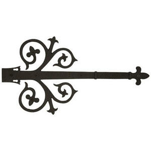 Signature hardware filigree dummy strap hinge in black powder coat