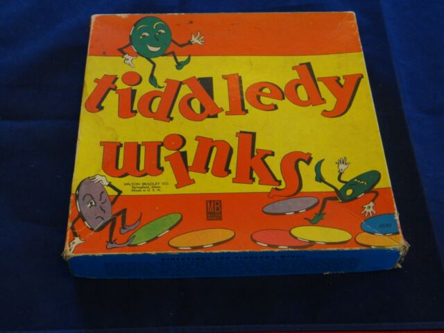 ANTIQUE/VINTAGE MILTON BRADLEY TIDDLEDY WINKS #4220 MADE IN USA!