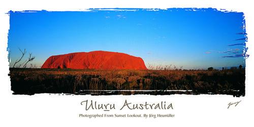 Australia Uluru landscape print unframed Ayers Rock