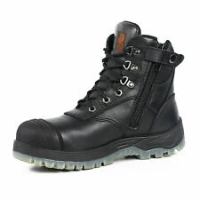 Canura Safety Work Boots Side Zip Anti Penetration 8602 Steel Toe Cap Black NEW