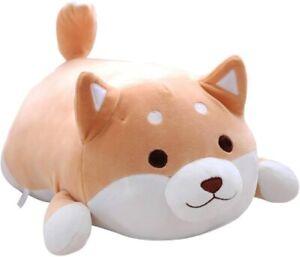 "14"" Dog Plush Toy Pillow, Cute Shiba Inu Corgi Squishable USA SELLER"