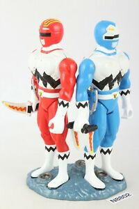 MMPR Power Rangers Lost Galaxy Walkie Talkie Red and Blue Works!