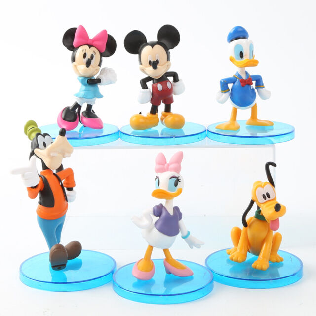 Groovy Disney Mickey Minnie Mouse 6 Pcs Figure Playset Donald Duck Funny Birthday Cards Online Elaedamsfinfo