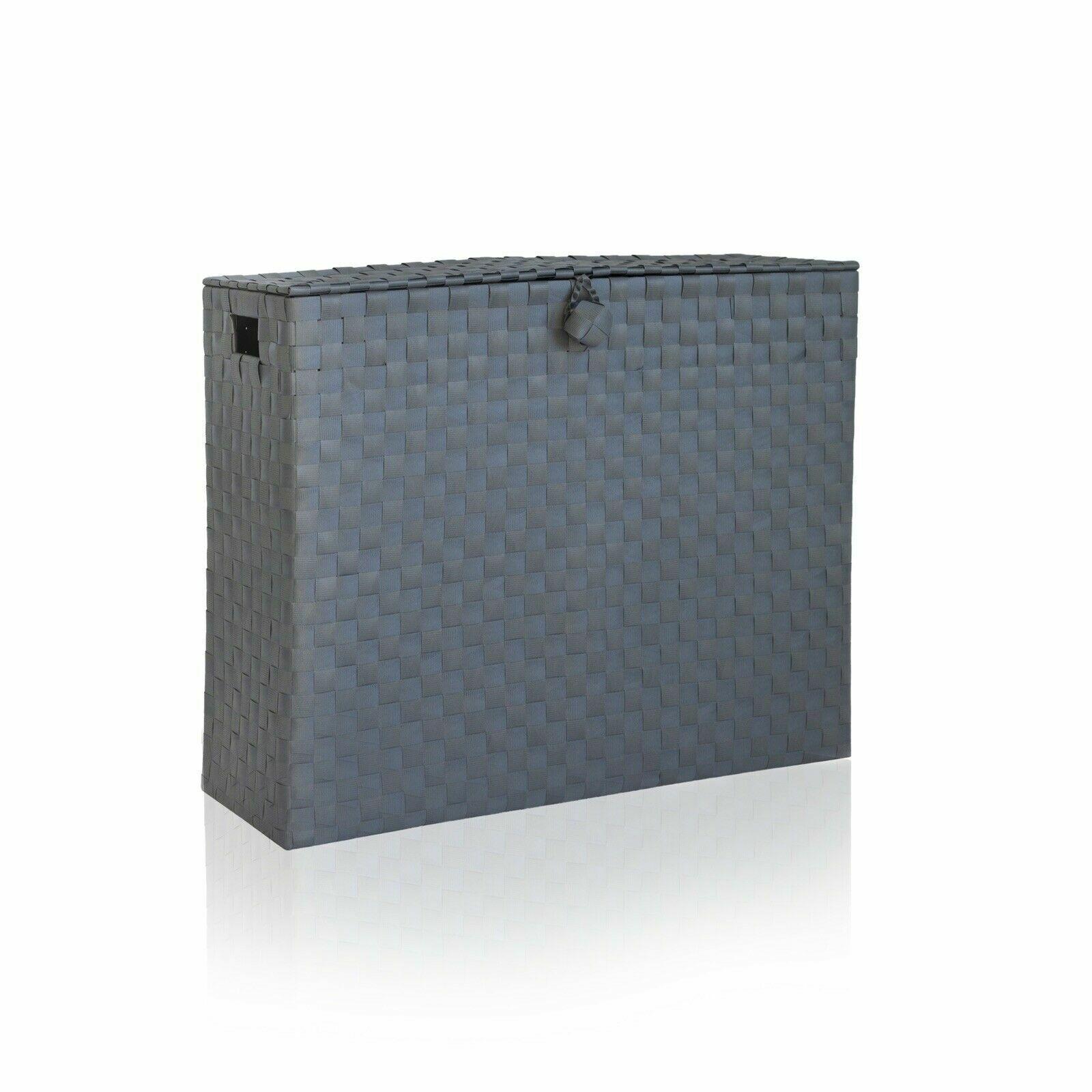 Vencier White/Grey Toilet Roll Holder Bathroom Storage Box With Insert Handle