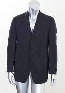 CERRUTI 1881 Mens VINTAGE Navy Wool Linen Pinstripe Blazer Sport ...